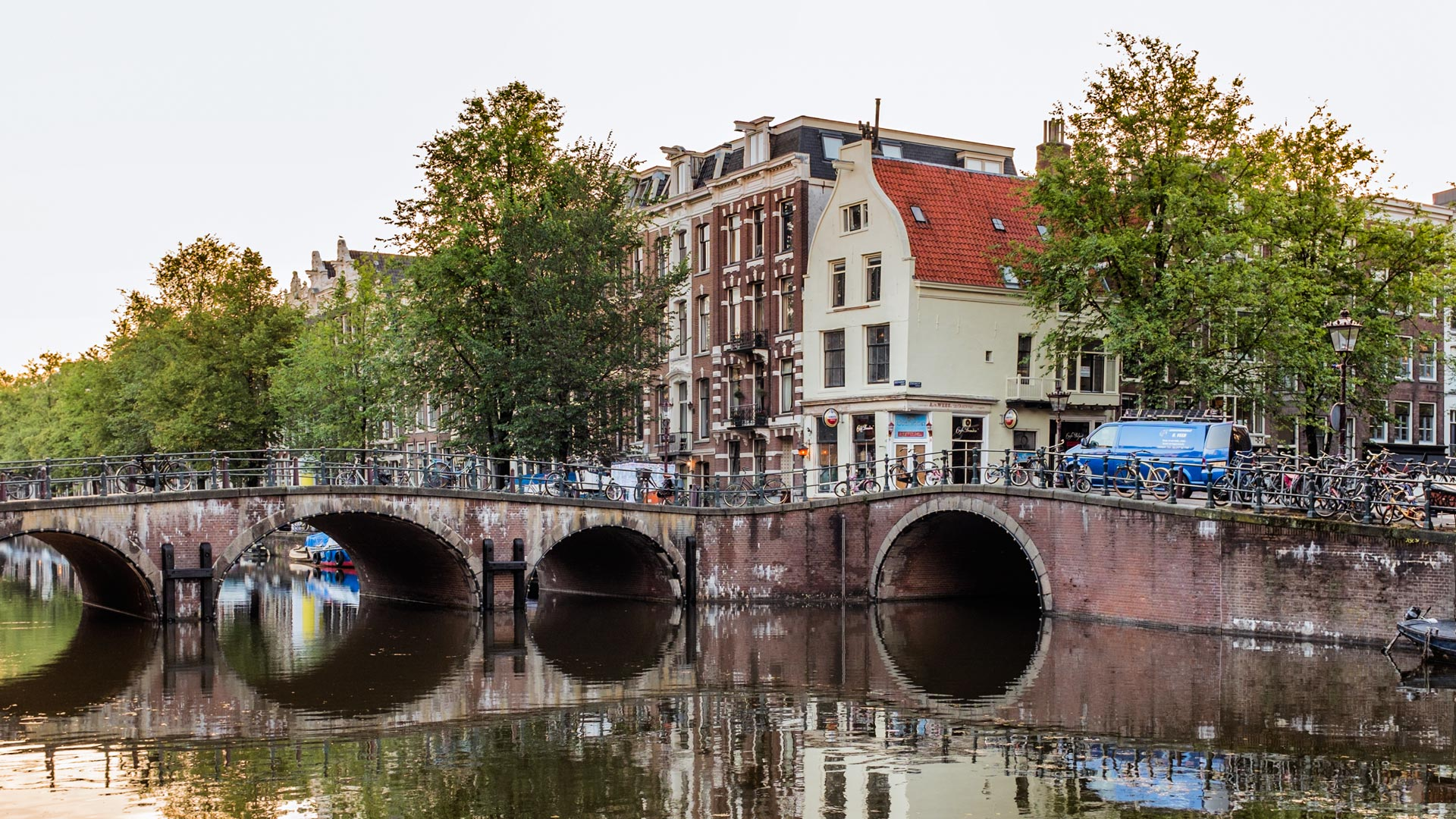 Amsterdam canal bridge Amsterdam Netherlands