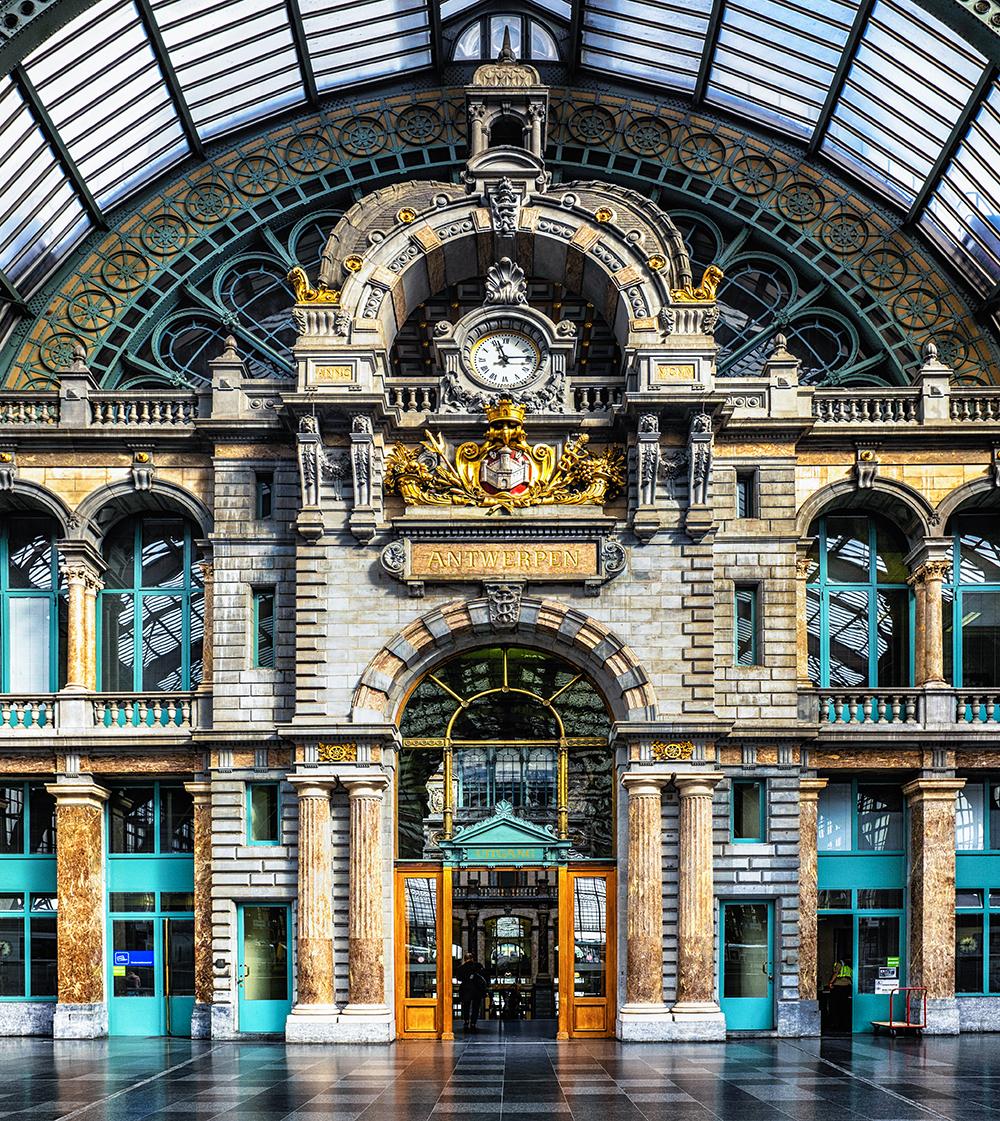Antwerp clock tower Antwerp Belgium