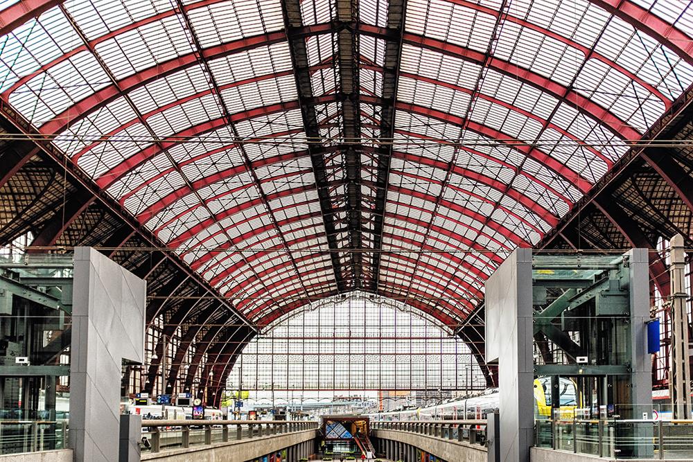 Antwerp train platform Antwerp Belgium