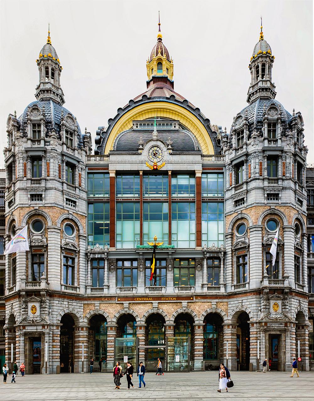 Antwerp train station exterior Antwerp Belgium