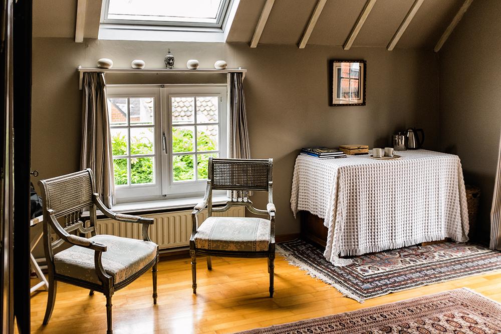 Bruges B&B bedroom desk Bruges Belgium
