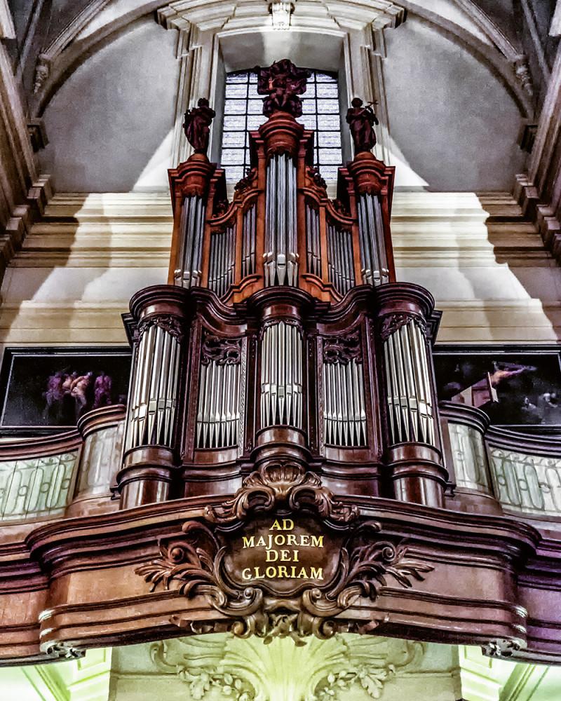 Bruges St Walburgha organ Bruges Belgium