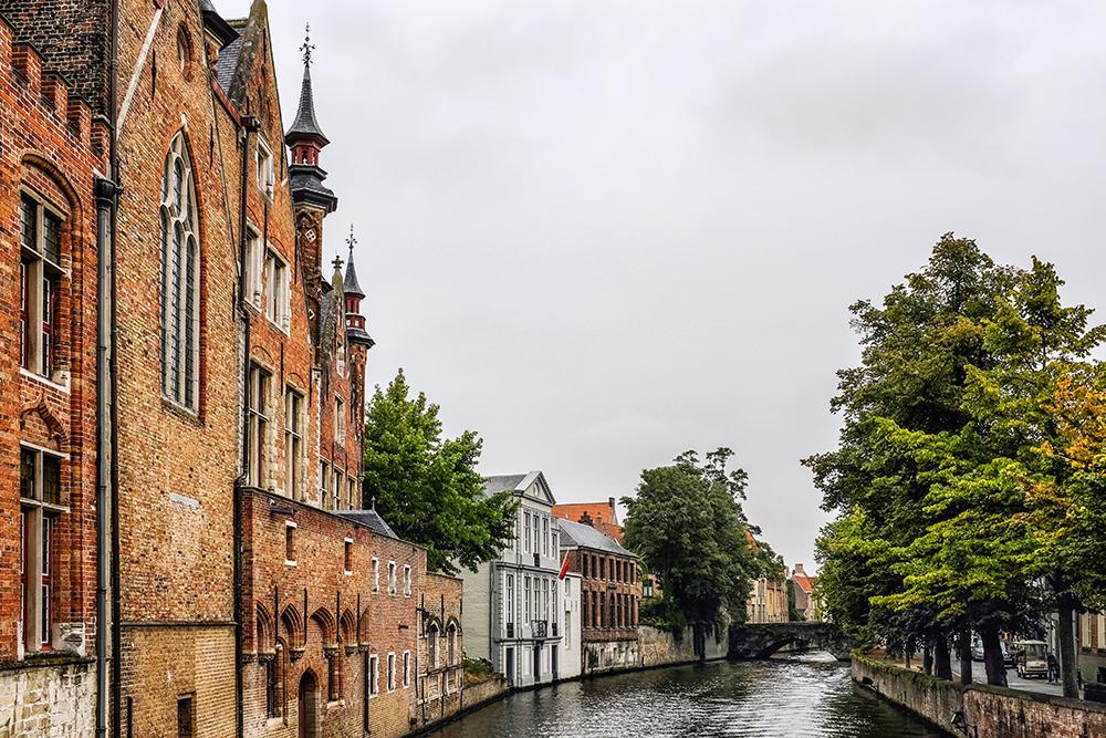 Bruges canal water Bruges Belgium