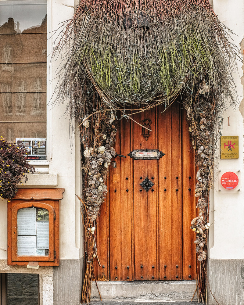 Bruges restaurant door Bruges Belgium