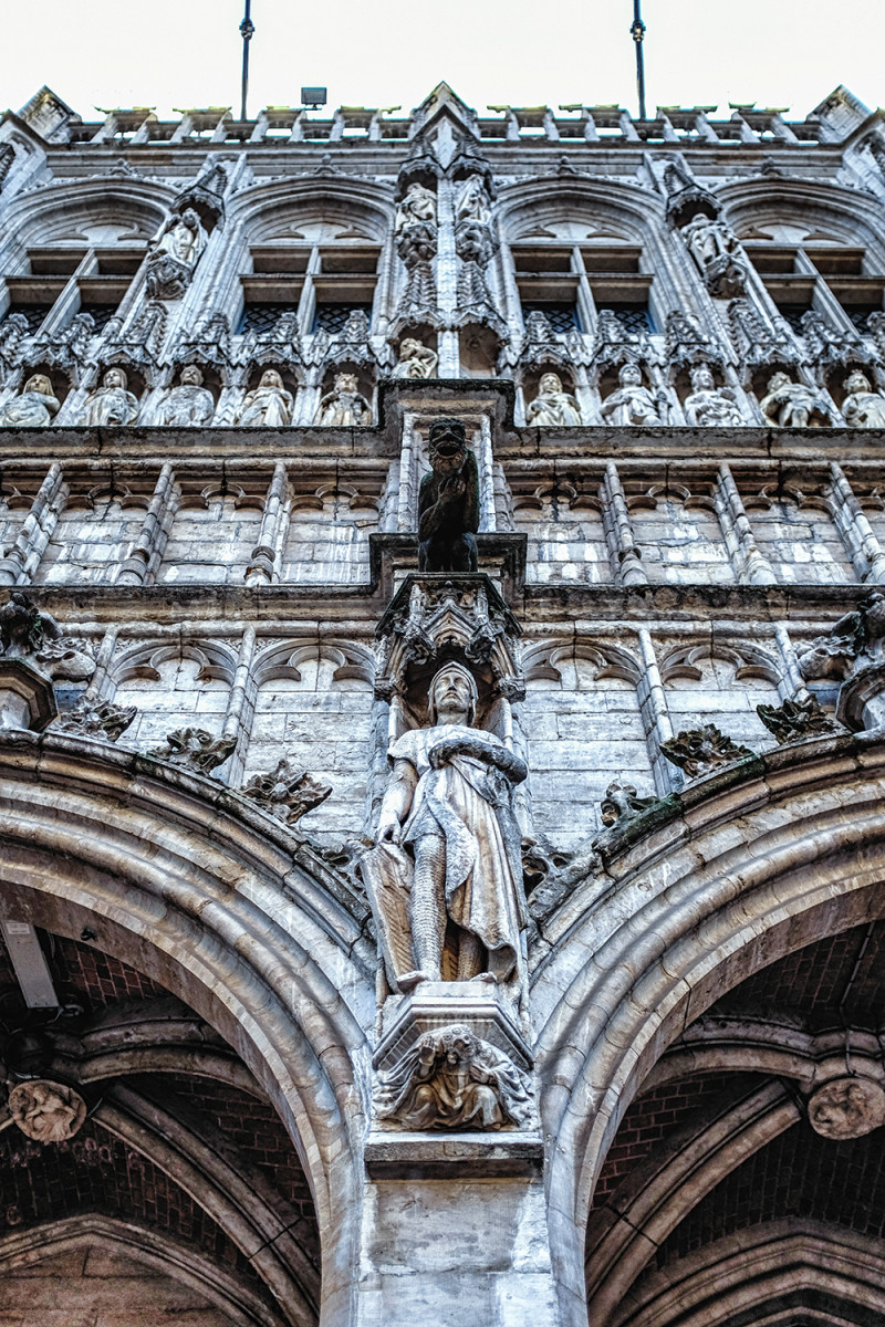 Brussels Grand Place architectural detailing Brussels Belgium