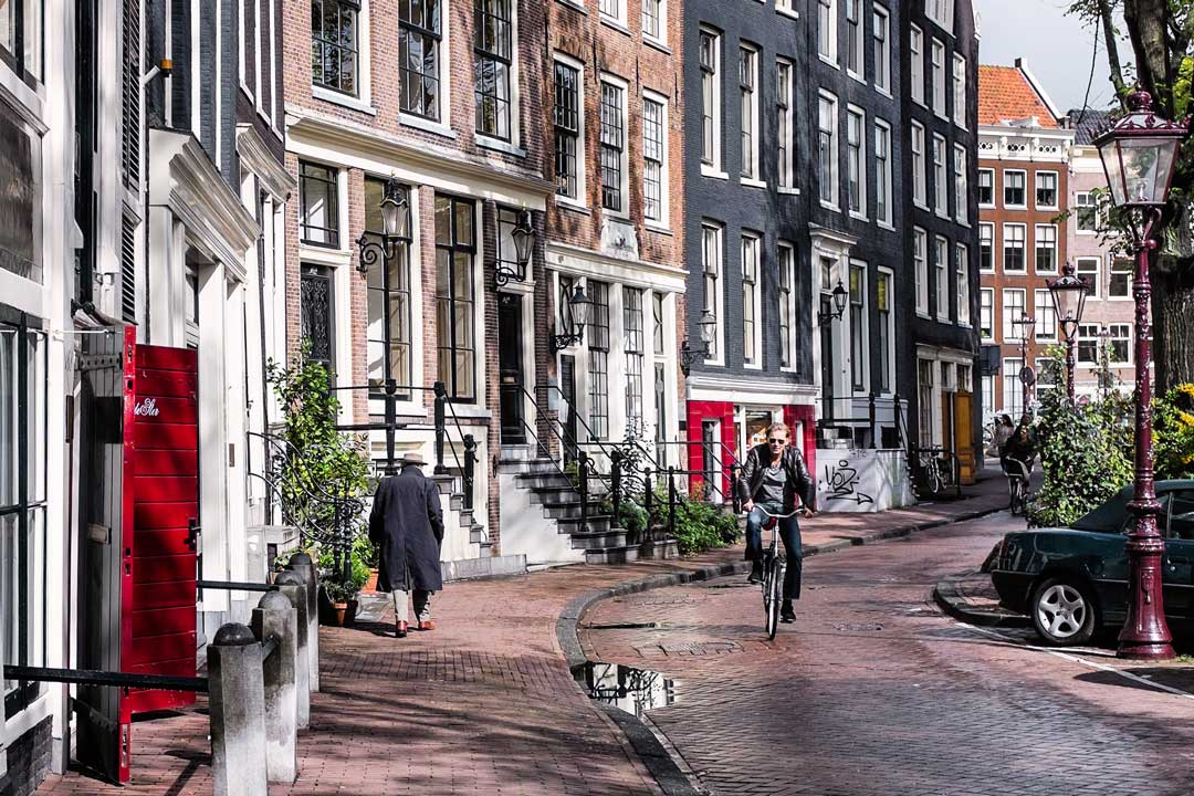 Cyclist Amsterdam Netherlands
