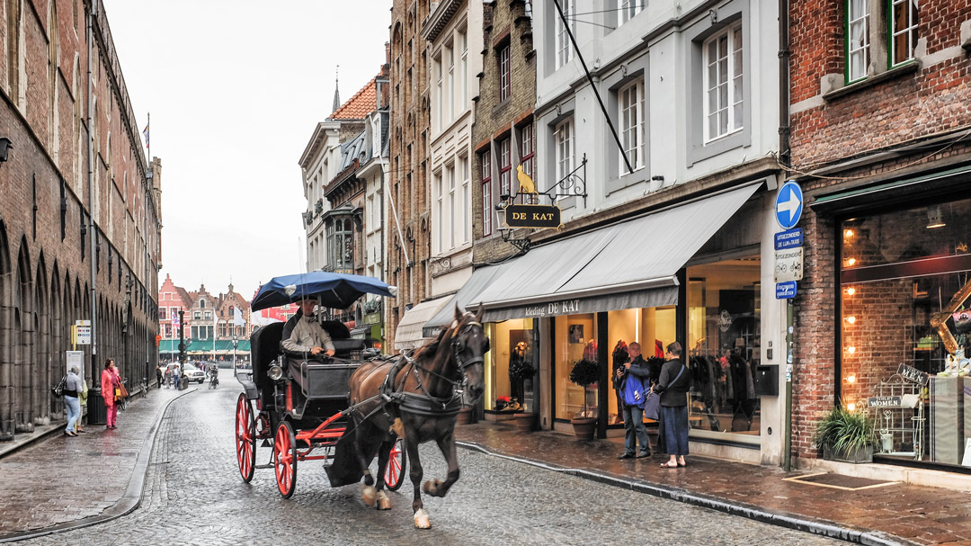 Horse carriage Bruges Belgium