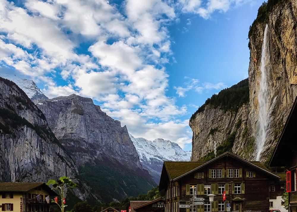 Lauterbrunnen Staubbach Falls Lauterbrunnen Switzerland