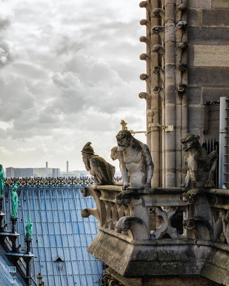 Paris Chimeras balcony Paris France