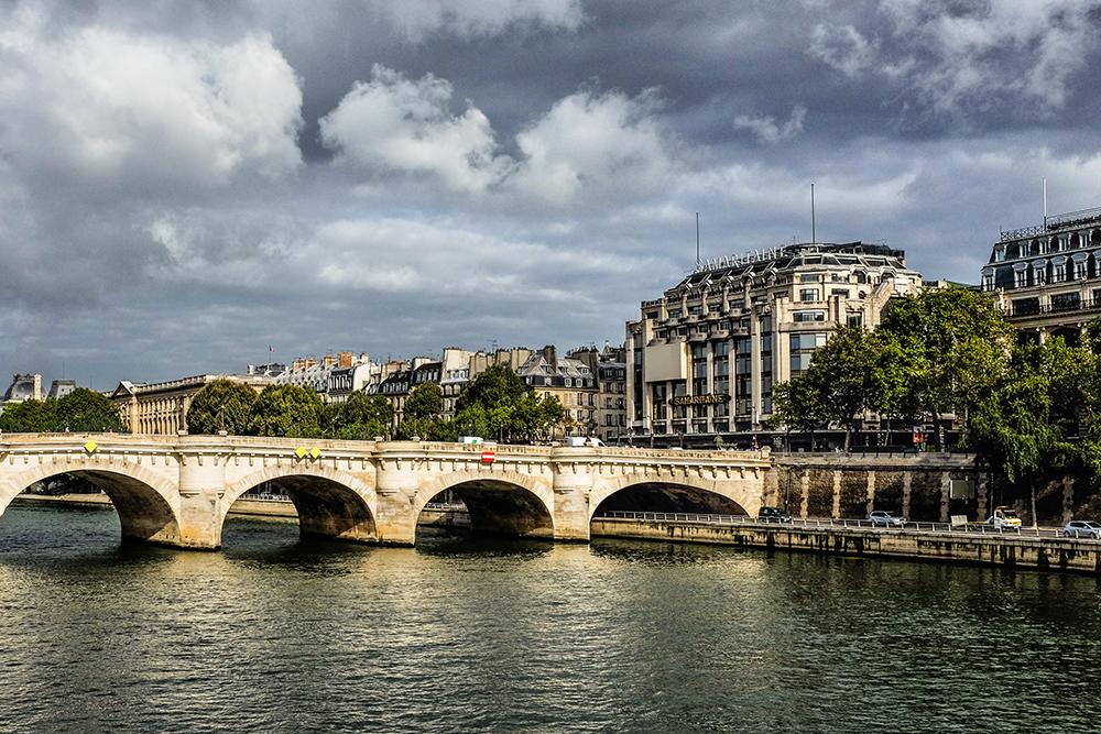 Paris Ile de Cite Seine River Paris France