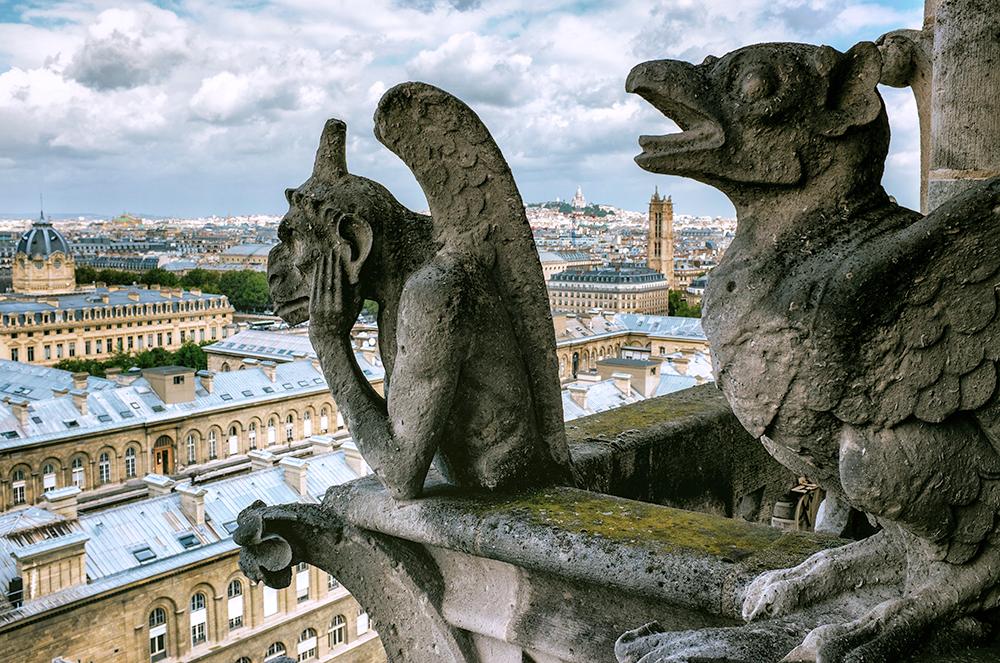Paris Notre Dame Chimeras Paris France