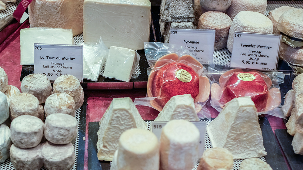 Paris Rue Cler cheese shop Paris France