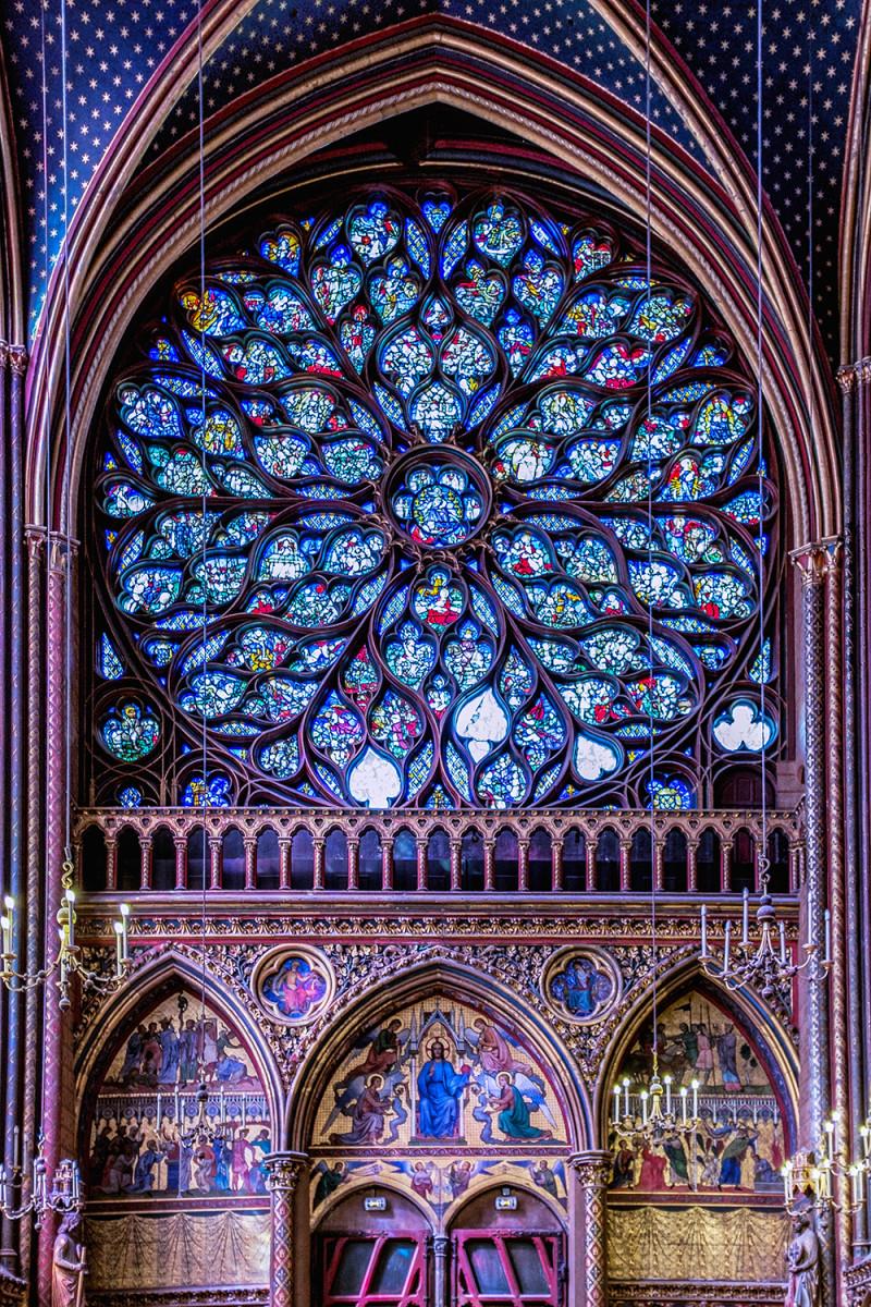 Paris Saint Chapelle rose window Paris France