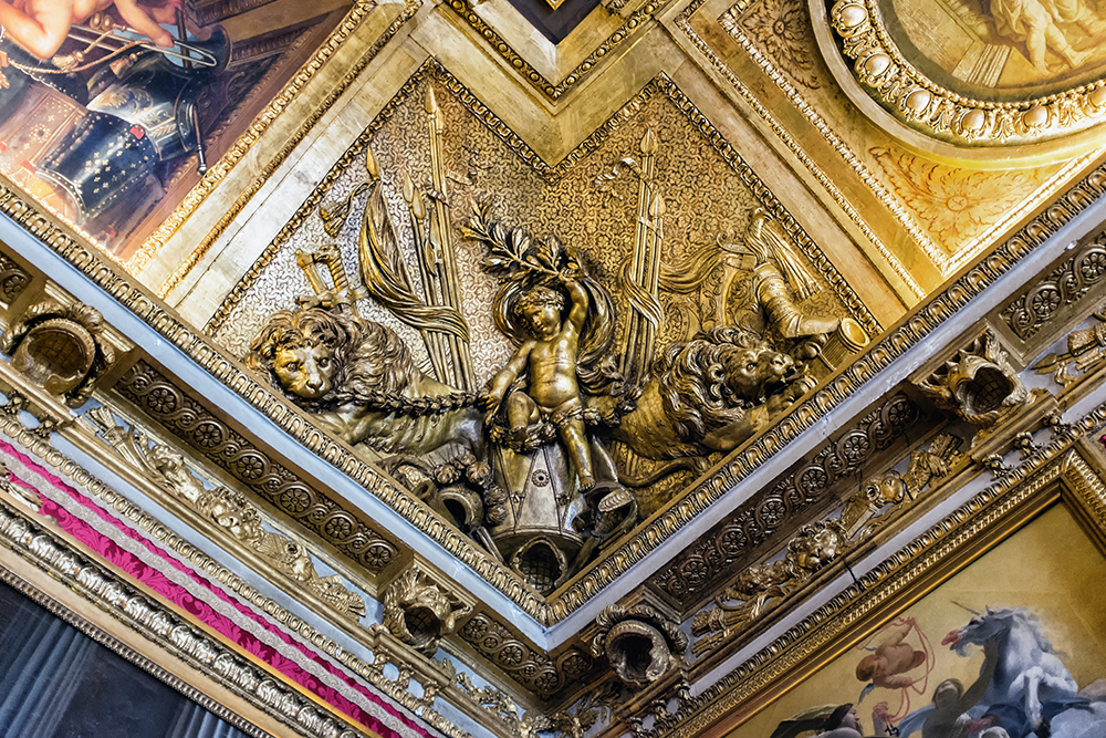 Paris Versailles ceiling corner Paris France