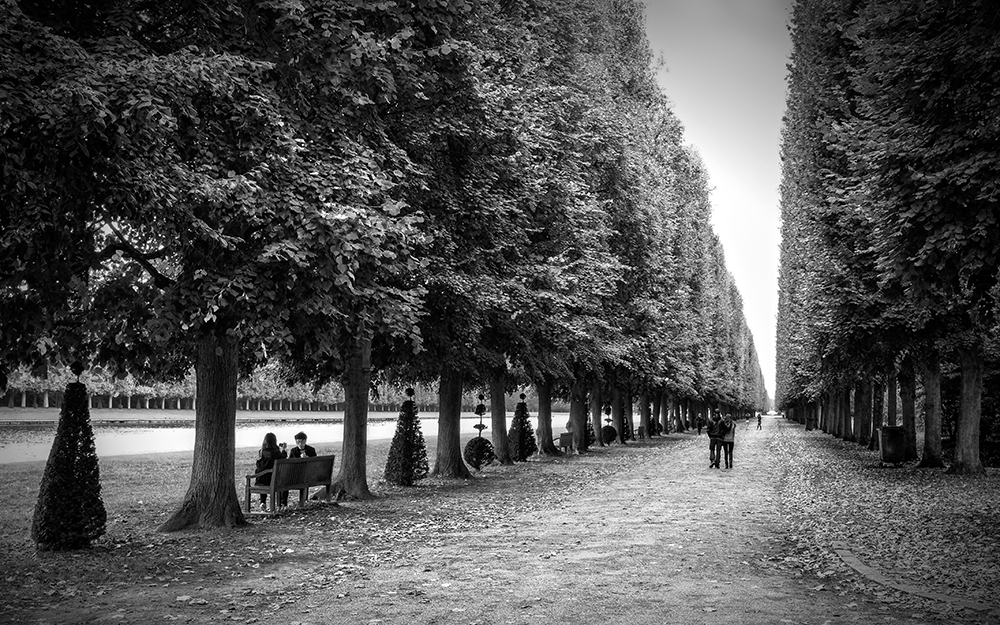 Paris Versailles grove vanishing point Paris France