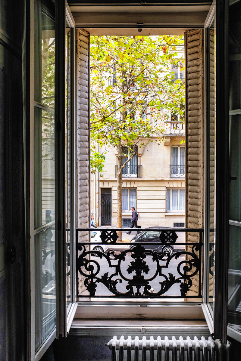 Paris room open window Paris France