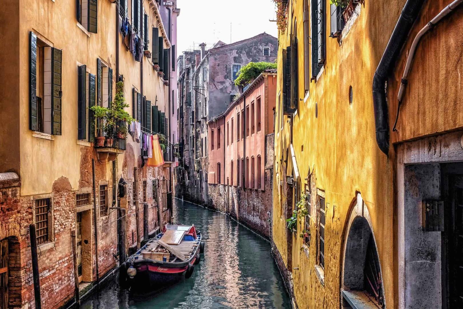 Canal boat Venice Italy
