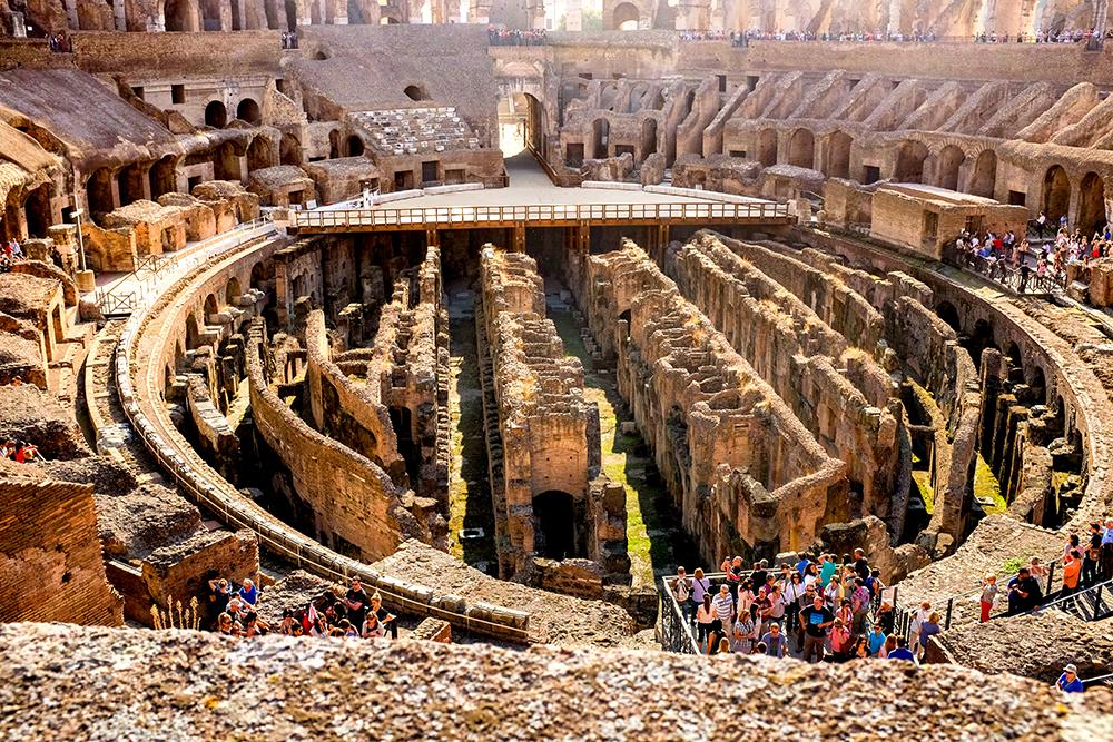 Colosseum interior Rome Italy