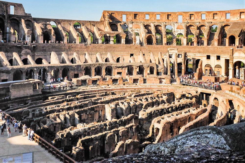 Colosseum interior floor Rome Italy