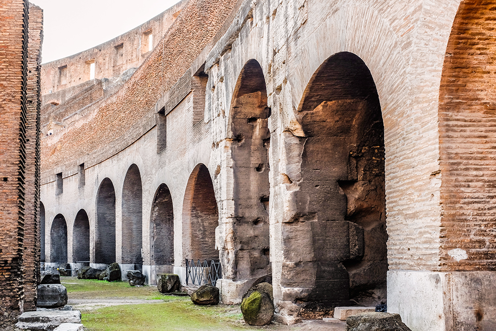 Colosseum side Rome Italy