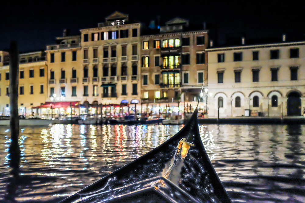Grand Canal at night Venice Italy