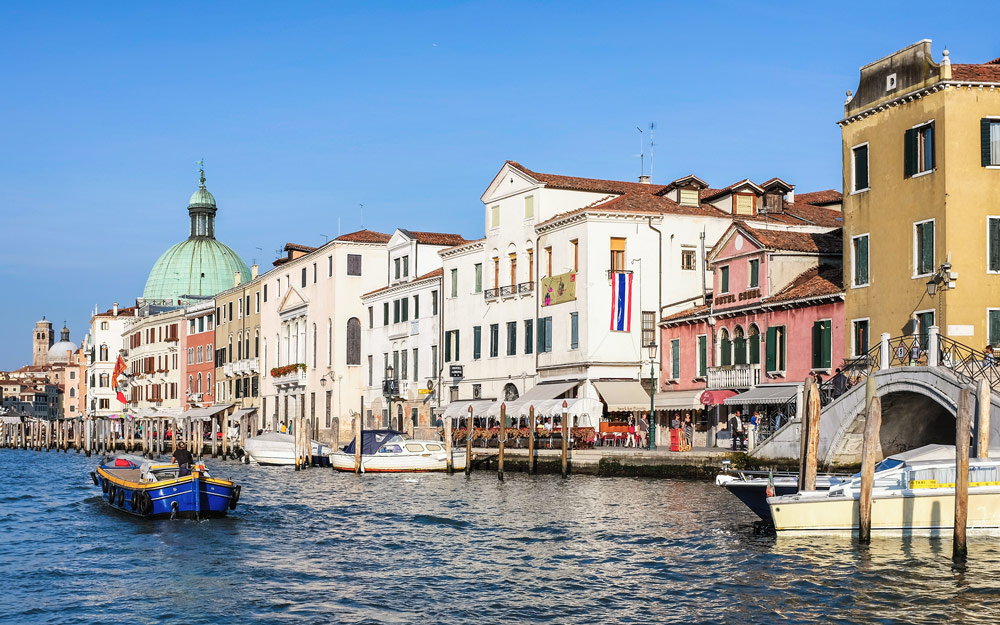 Grand Canal boat Venice Italy