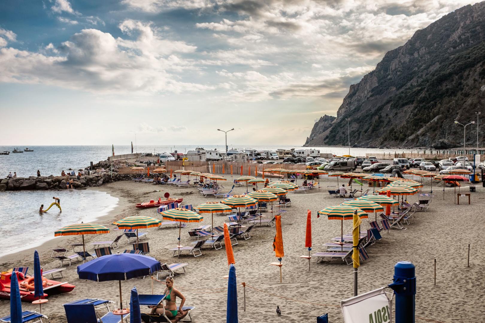 Monterosso beach Cinque Terre Italy