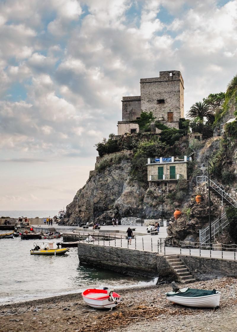 Monterosso harbor Cinque Terre Italy