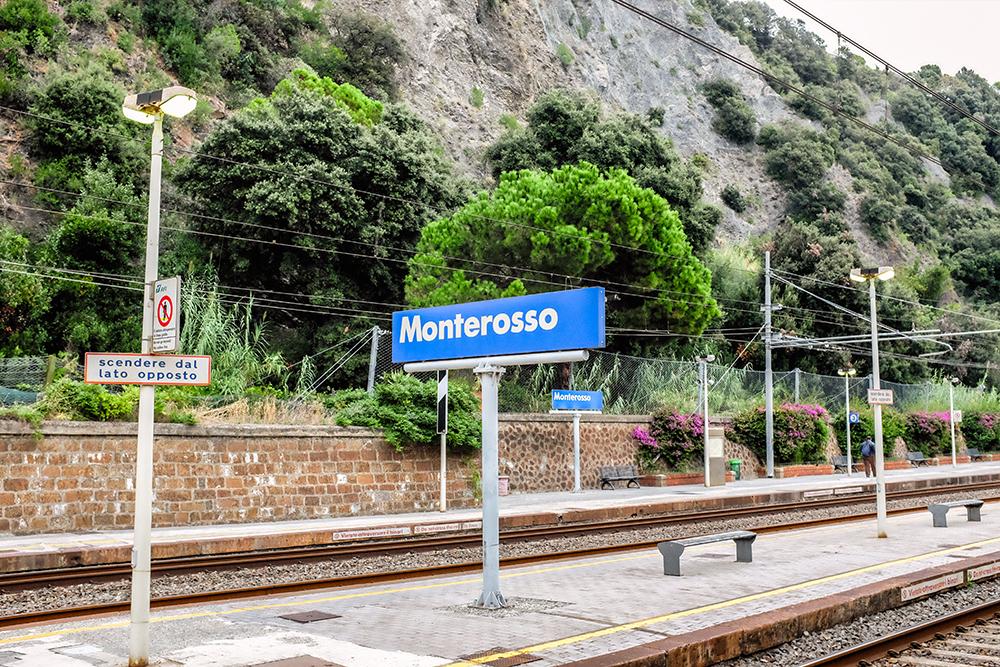 Monterosso train station Cinque Terre Italy