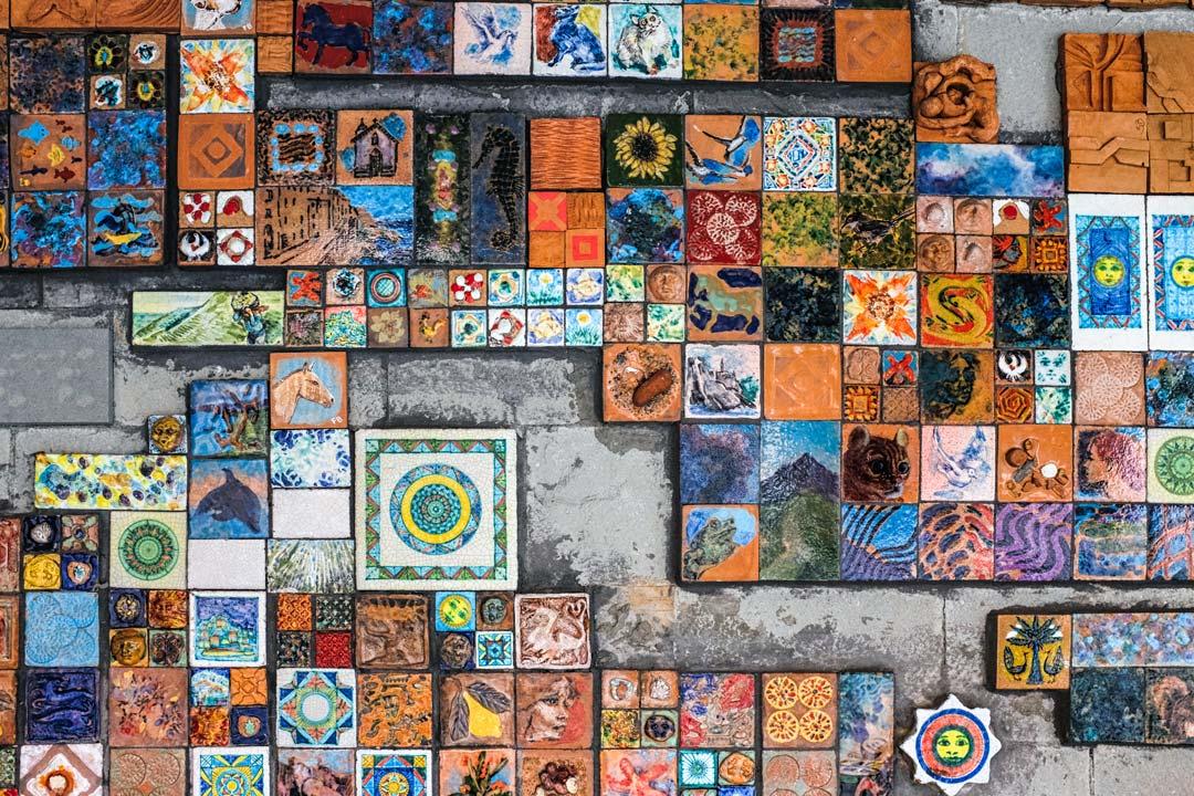 Riomaggiore tiles Cinque Terre Italy