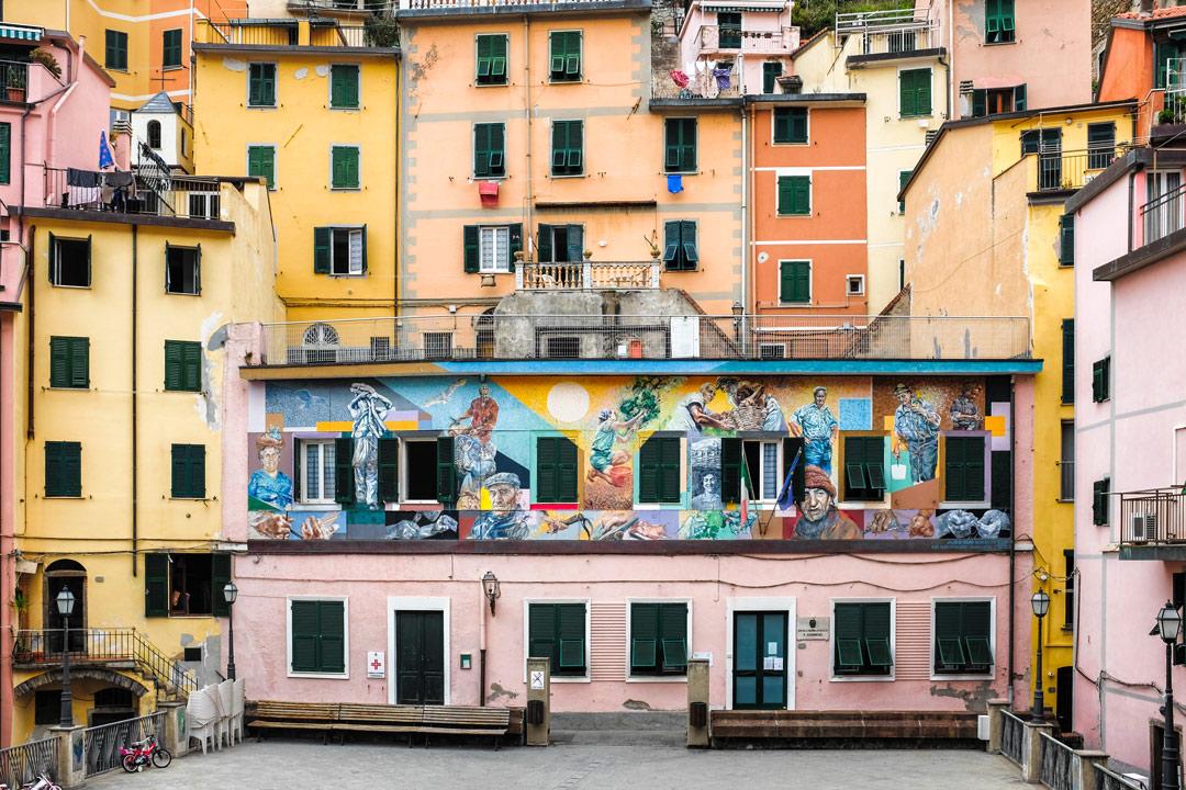 Riomaggiore wall art Cinque Terre Italy