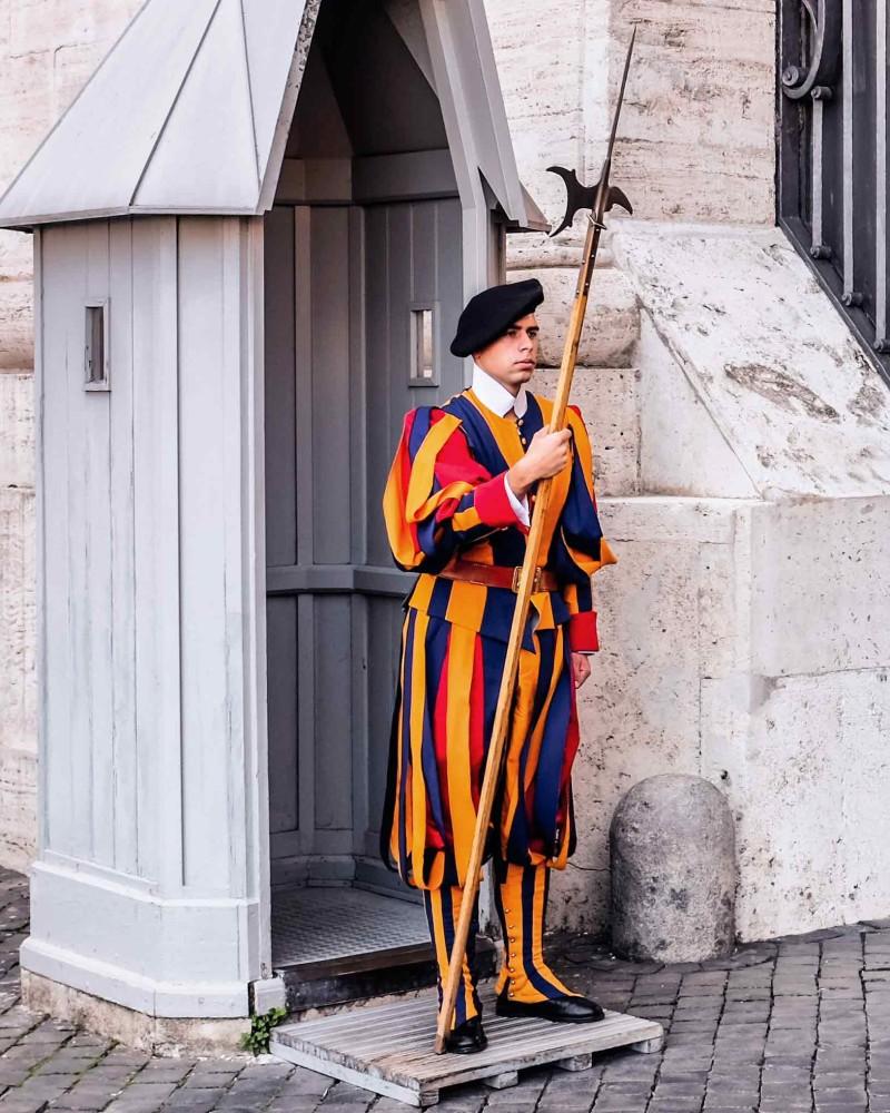 Vatican Swiss Guard sword Vatican City Rome Italy