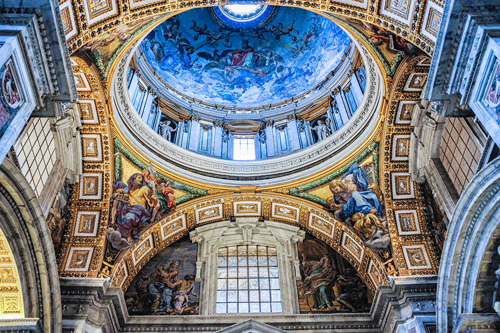 Vatican dome ceiling Vatican City Italy