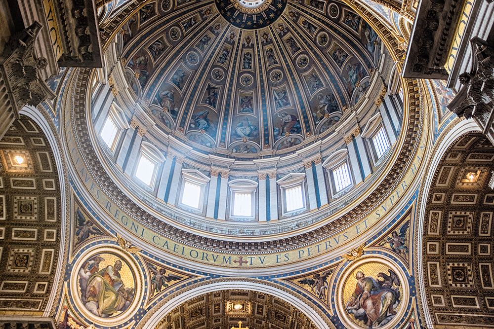 Vatican dome ceiling light Vatican City Italy