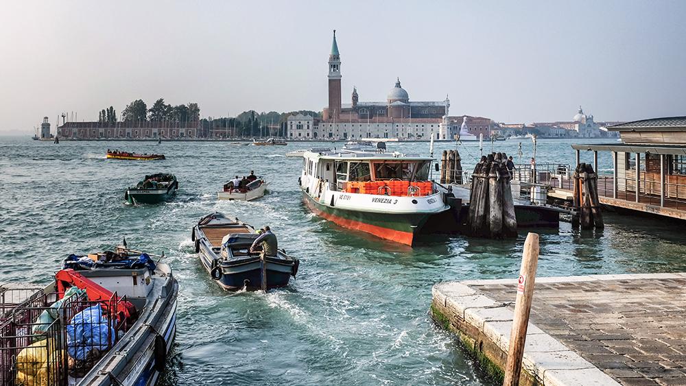 Venice water boats Venice Italy