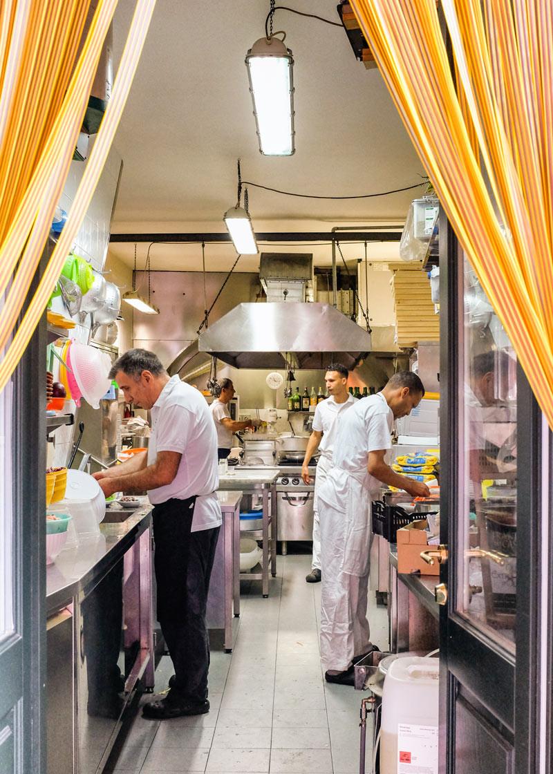 Vernazza restaurant kitchen Cinque Terre Italy