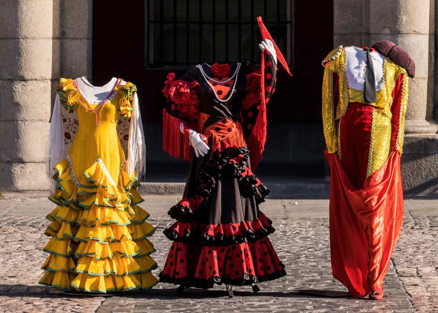 Plaza Mayor costumes Madrid Spain