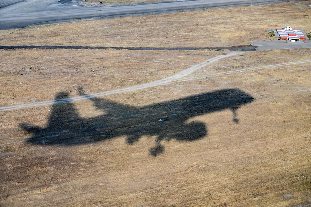 Spain airplane shadow