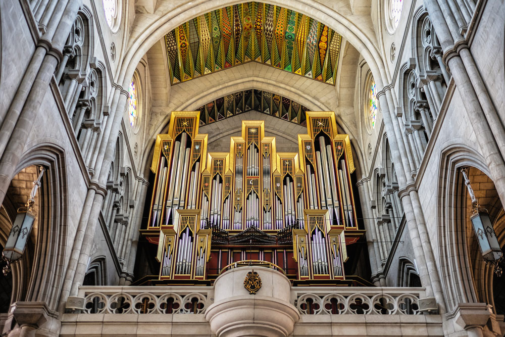 Almudena Cathedral organ Madrid Spain