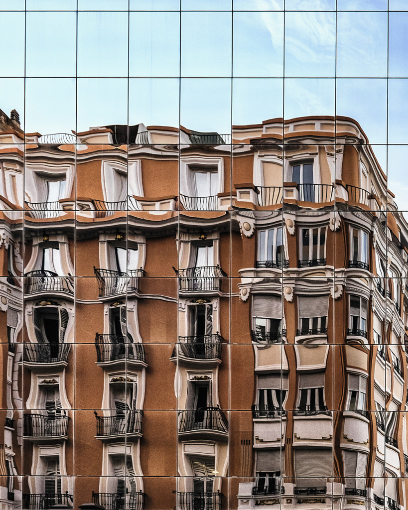 Building reflection Zaragoza Spain