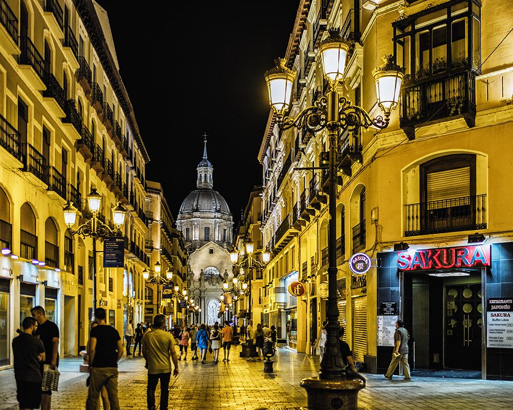 Calle de Alfonso I Zaragoza Spain