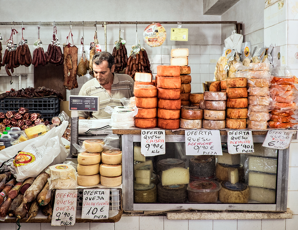 Farmers Market Cheese Trujillo Spain