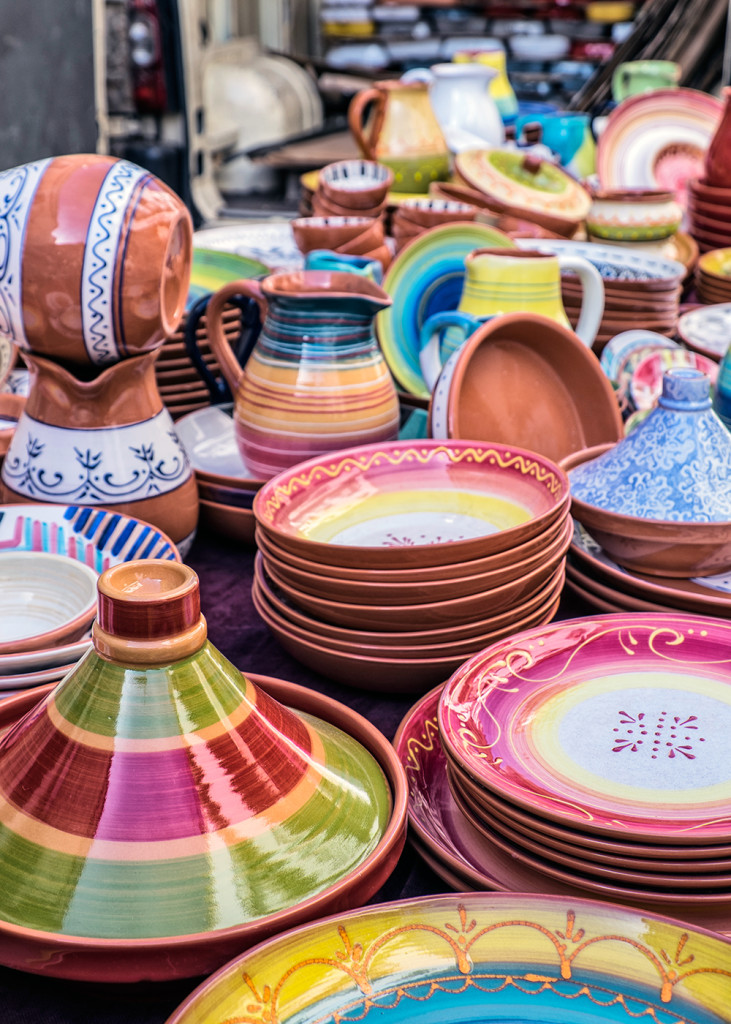 Farmers Market Pottery Trujillo Spain