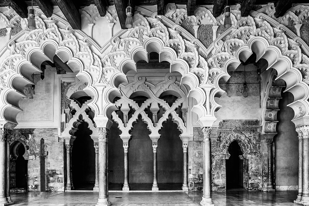 Palace of Aljaferia arches Zaragoza Spain