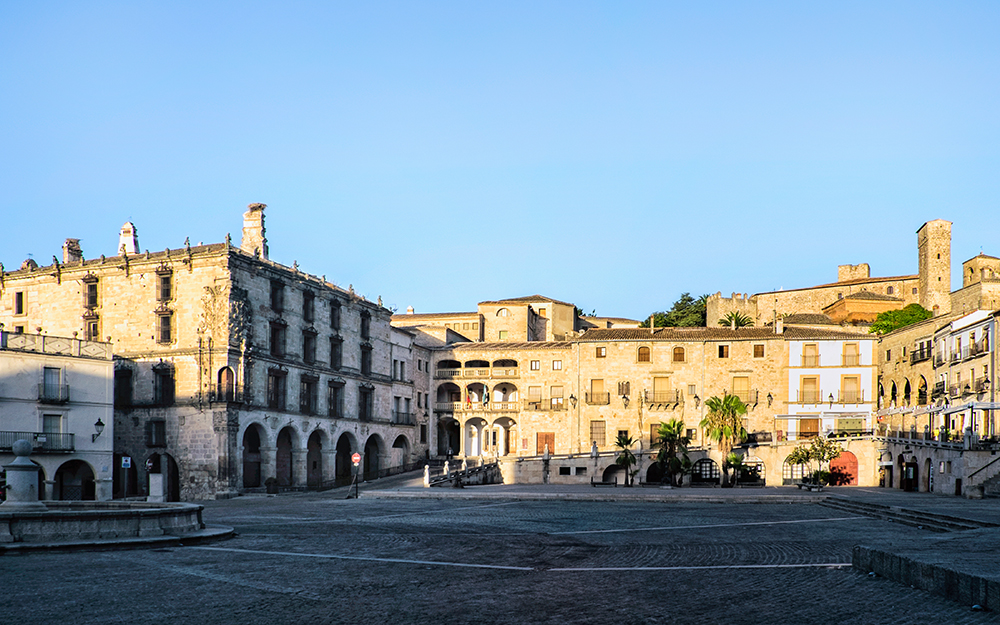 Plaza Mayor Palace of the Conquista Trujillo Spain