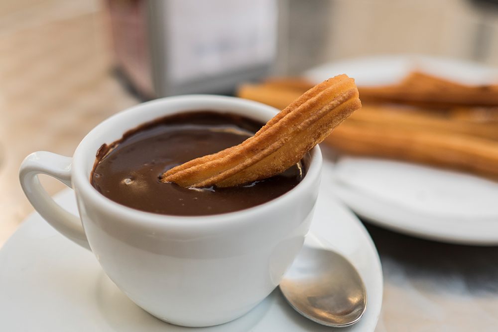 Chocolate con churros Zaragoza Spain