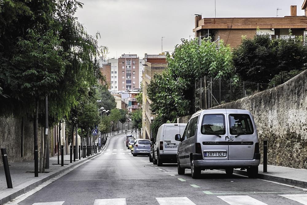Park Güell hill Barcelona Spain