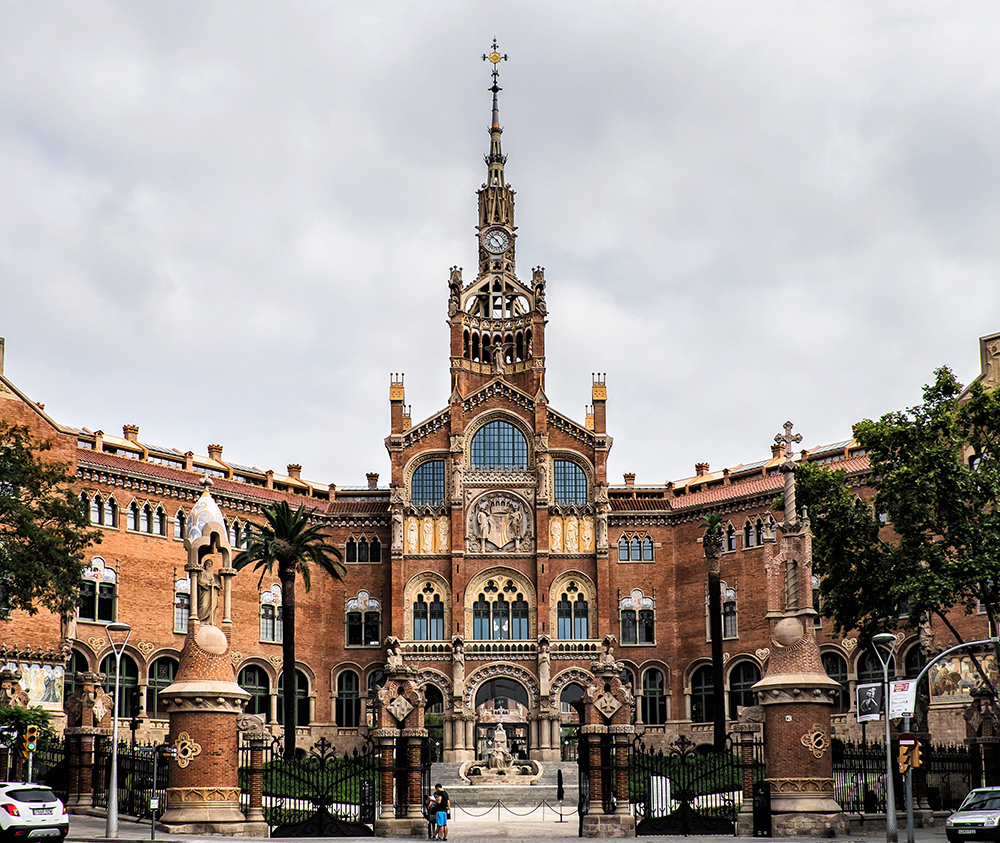Sant Pau front entrance Barcelona Spain