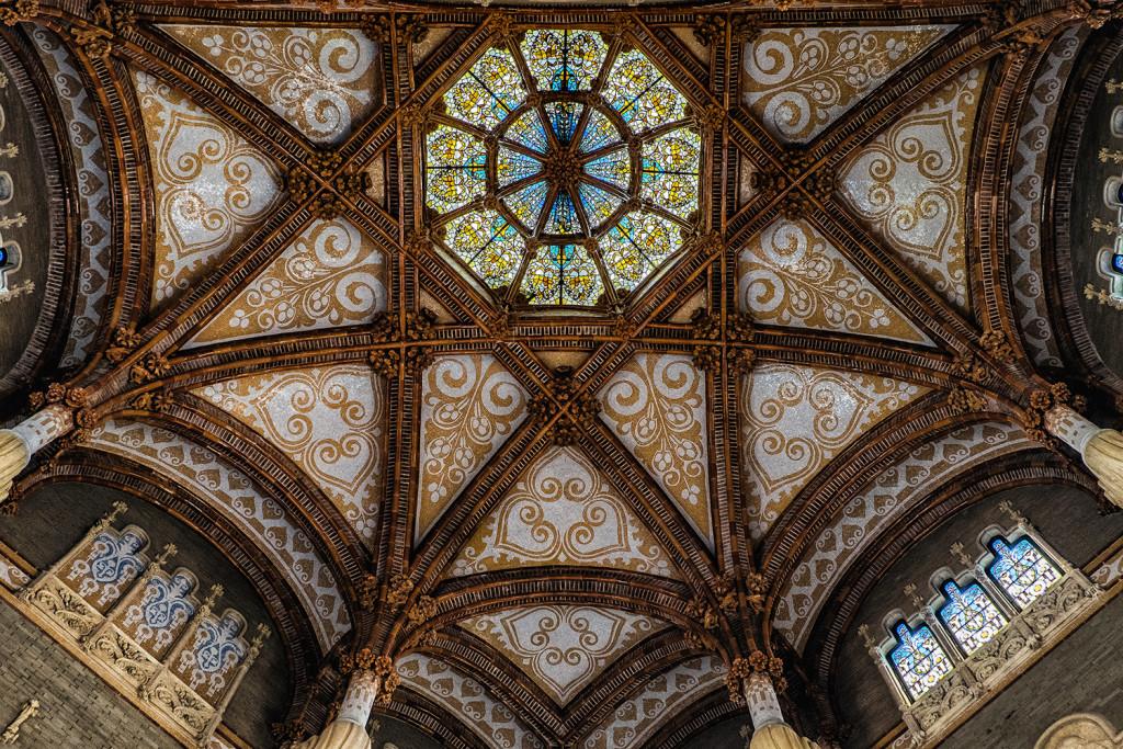 Sant Pau mosaic ceiling Barcelona Spain