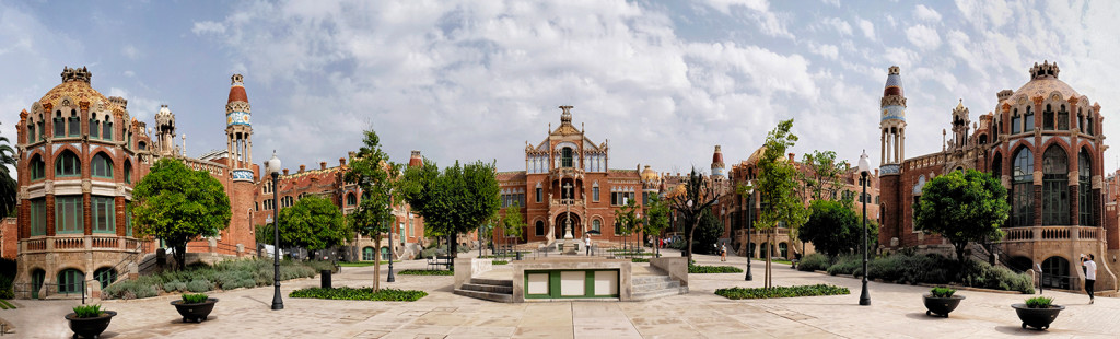 Sant Pau panorama Barcelona Spain